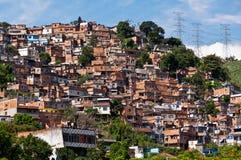 Rio de Janeiro Slums on the Hill Stock Photography