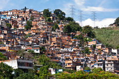 Rio de Janeiro Slums on the Hill Stock Photo