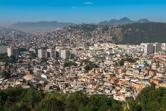 Rio de Janeiro Slums on the Hills Stock Photography