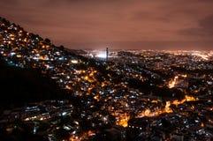 Rio de Janeiro Slums at Night. Rio de Janeiro Slums on the Hill at Night Royalty Free Stock Photos