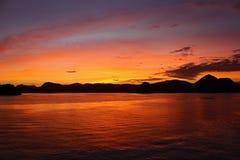 Rio de Janeiro - soluppgång Arkivfoto