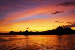 Rio de Janeiro - soluppgång Royaltyfri Bild