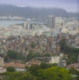 Rio de Janeiro de stad in en favela royalty-vrije stock foto's