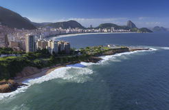 Rio de Janeiro - Strand Copacabana - Brazilië Stock Afbeeldingen