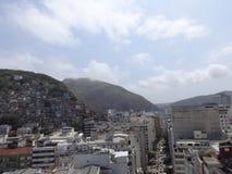Rio de Janeiro Street Buildings und Elendsviertel lizenzfreies stockfoto