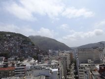Rio de Janeiro Street Buildings y tugurios foto de archivo libre de regalías
