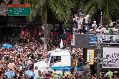 Rio de janeiro Street Carnival fotografia de stock