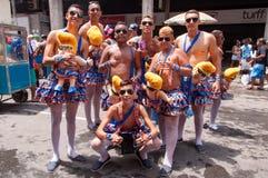 Rio de Janeiro Street Carnival Royaltyfria Bilder