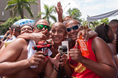 Rio de Janeiro Street Carnival Arkivfoto