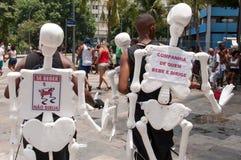 Rio de Janeiro Street Carnival Arkivbilder