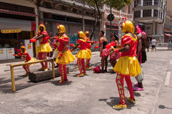 Rio de Janeiro Street Carnival Royaltyfri Fotografi