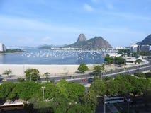 Rio de janeiro sugar bread. January in Rio de Janeiro, Panoramic View, View of Sugar Loaf and Botafogo Beach stock image