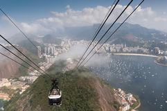 Rio de Janeiro, Sugar leaf view landscape panorama Royalty Free Stock Image