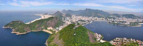 Rio de Janeiro, Sugar leaf view landscape panorama Brazil Royalty Free Stock Photo