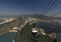 Rio de Janeiro from Sugar Loaf. Rio de Janeiro city in a view from the Sugar Loaf - Pao de Acucar royalty free stock photography