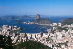 Rio de Janeiro, Sugar Loaf. Sugar Loaf mountain, iconic symbol of Rio de Janeiro, and panoramic view of the city. Brazil royalty free stock images