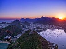 Rio de Janeiro from Sugar Loaf Royalty Free Stock Photos