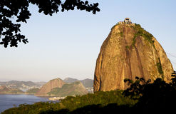 Rio de Janeiro. Sugarloaf. Sugarloaf is also a visiting card of Rio de Janeiro, like the statue of Christ the Redeemer. To climb the mountain on the cable cars Stock Photo