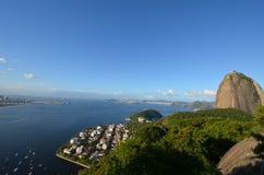 Rio de Janeiro Sugarloaf berg, geografiskt särdrag, gränsmärke, hav, horisont royaltyfria bilder