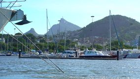 Rio De Janeiro Sugarloaf berg och cityscape stock video