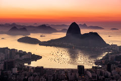 Rio de Janeiro by Sunrise Royalty Free Stock Images