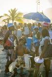Rio de Janeiro Sunset Carnival Crowd Stock Photo