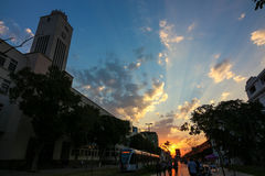 Rio de janeiro tem o dia de inverno o mais quente: 37 graus Célsio Fotos de Stock Royalty Free
