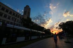 Rio de Janeiro tiene el día de invierno más caliente: 37 grados de cent3igrado Foto de archivo libre de regalías
