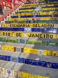 Rio de Janeiro trappa: Escadaria Selaron royaltyfri fotografi
