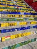 Rio de Janeiro trappa: Escadaria Selaron arkivbilder