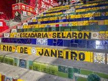 Rio de Janeiro trappa: Escadaria Selaron royaltyfria bilder