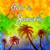 Rio de Janeiro travel background Stock Images