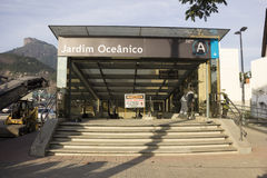 Rio de Janeiro 2016: Tunnelbanaarbeten kan försena tack vare ekonomisk kris Arkivbilder