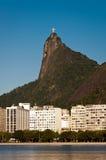 Rio de Janeiro Urban Area with Corcovado Stock Photography