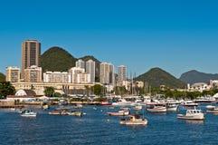 Rio de Janeiro Urban View con las colinas Fotografía de archivo libre de regalías