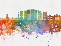 Rio de Janeiro V2 skyline  watercolor background Stock Images