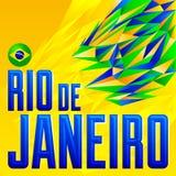 Rio de Janeiro vector lettering design Stock Photos