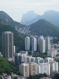 Rio de Janeiro view. Surrealist vision of  Rio de Janeiro Brazil and rocks behind Royalty Free Stock Image