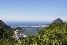 Rio de Janeiro. View from Corcovado mountain. Royalty Free Stock Photos