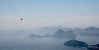 Rio de Janeiro, view from the Corcovado. Skyline in Rio de Janeiro, view from the Corcovado Royalty Free Stock Images