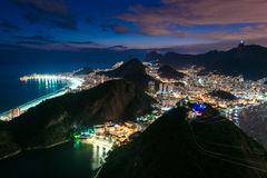 Rio de Janeiro View at Night Royalty Free Stock Photo