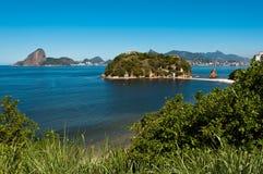 Rio de Janeiro View from Niteroi Royalty Free Stock Images