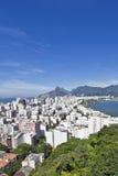 Rio de Janeiro. View of the Rio de Janeiro's famous neighbourhoods of Copacabana, Ipanema and Leblon royalty free stock images