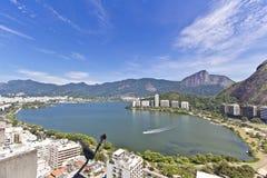 Rio de Janeiro. View of the Rio de Janeiro's Rodrigo de Freitas Lagoon Royalty Free Stock Photography