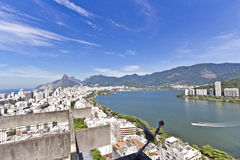 Rio de Janeiro. View of the Rio de Janeiro's Rodrigo de Freitas Lagoon Stock Images