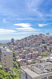 Rio de Janeiro. View of the slum of Cantangalo, in Rio de Janeiro, contrasting with the wealthy neighbourhoods od Ipanema and Copacabana around royalty free stock photos