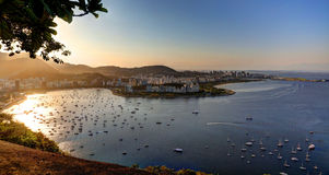 Rio de Janeiro. View from Sugar Loaf in Rio de Janeiro to Bota Foga and Flamengo parts of Rio Royalty Free Stock Photography
