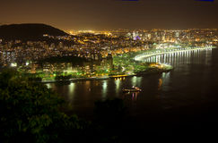 Rio de Janeiro. View from Sugarloaf mountain, on the evening of Rio Royalty Free Stock Photography