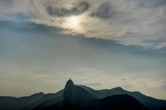 Rio de Janeiro View from Sugarloaf Mountain over the City during sunset Royalty Free Stock Photos