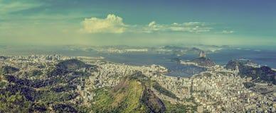 Rio de Janeiro vintage panorama Royalty Free Stock Photo